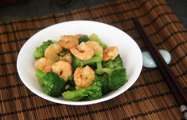 Chinese Food Made Easy: Stir Fry King Prawn with Broccoli