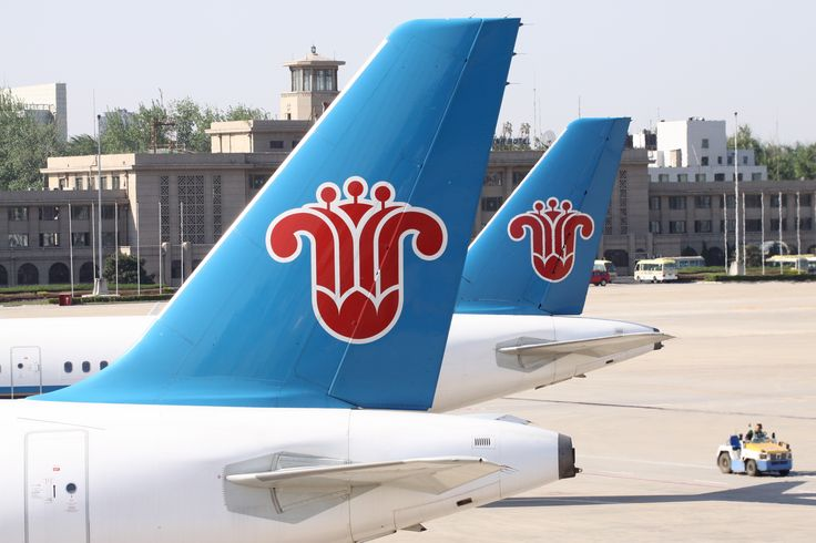 tails of two china southern airline planes