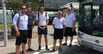 bus drivers wearing skirts in france