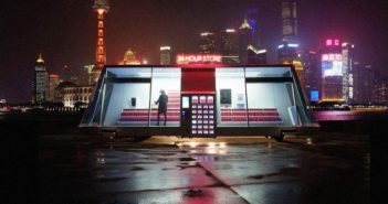 self-driving convenience store on the bund in shanghai