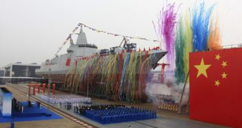 launch of destroyer in china