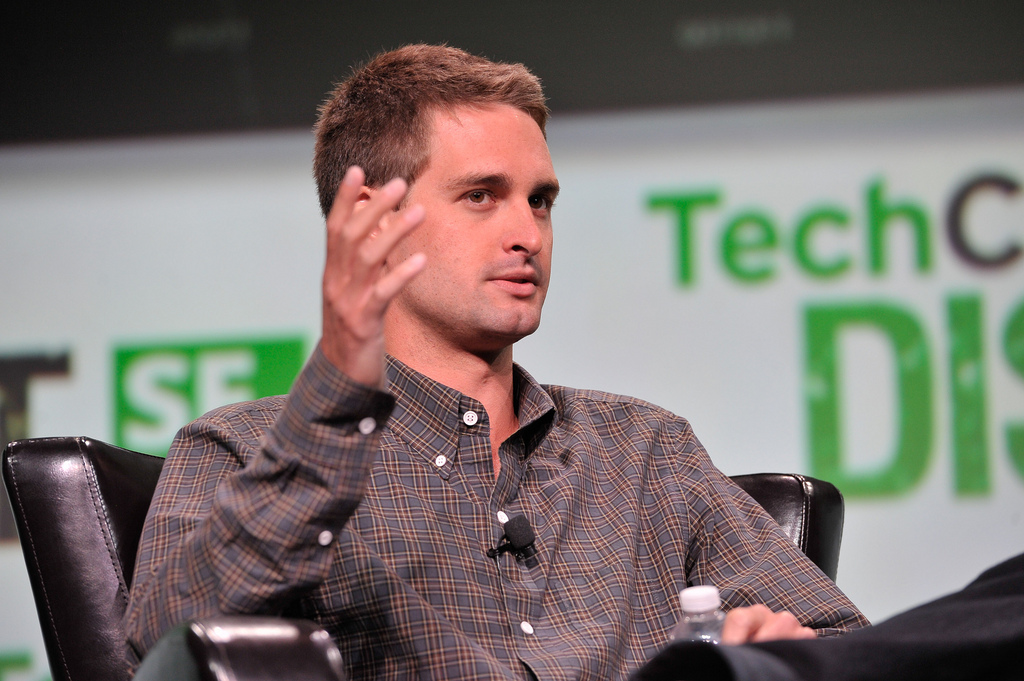Owner of snapchat Evan Spiegel