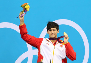 Chinese olympic champion Sunyang receives medal