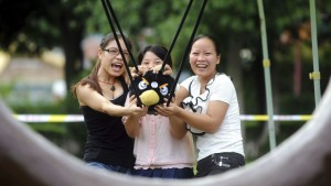 real life version of angry birds girls play