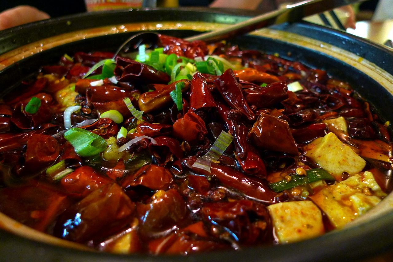 sichuan hotpot with ladel