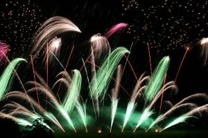 macau china fireworks on lake