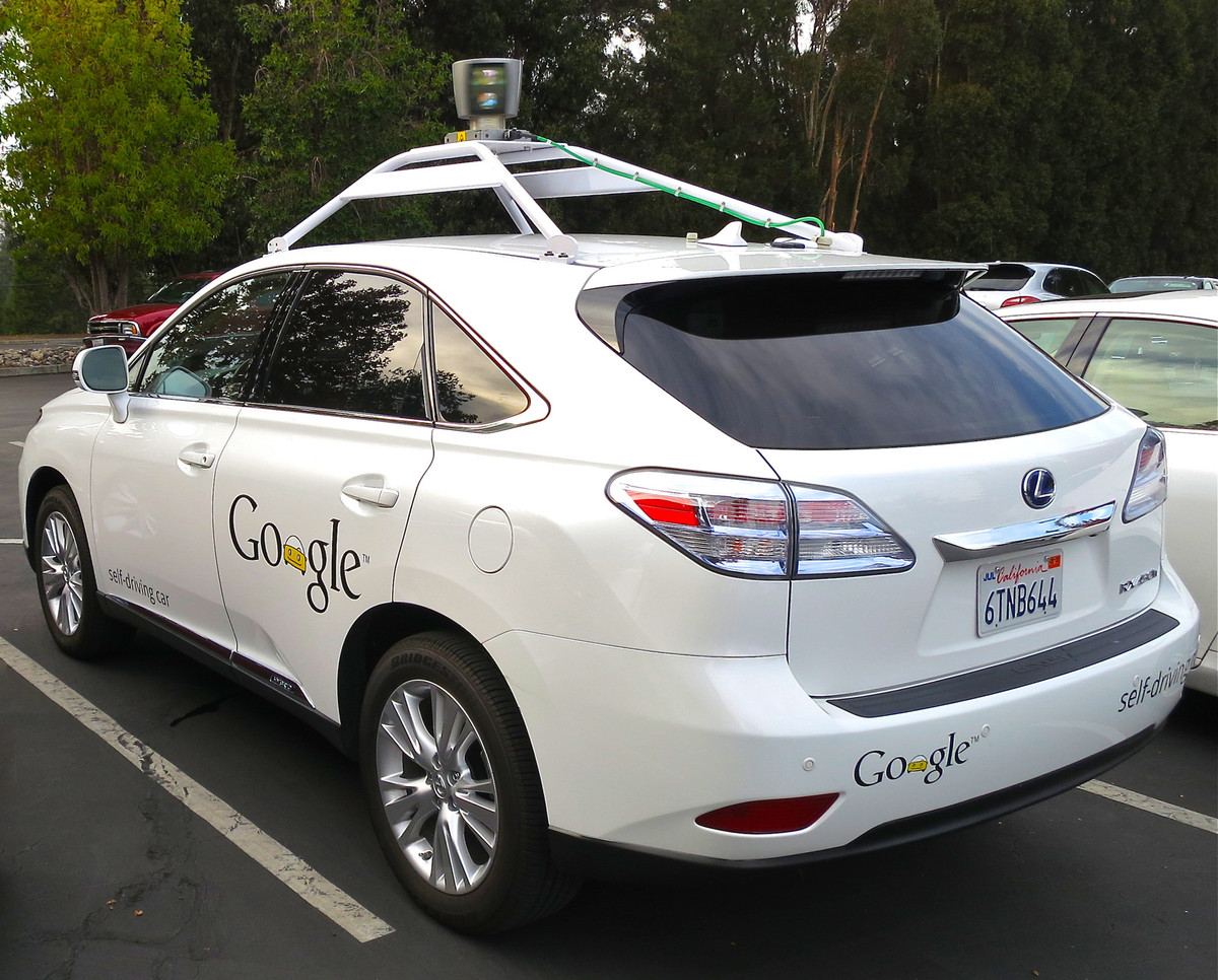 google self drive car with camera