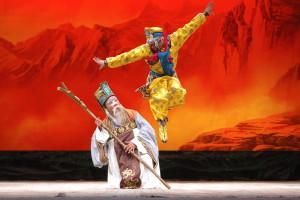 monkey king on stage in beijing opera