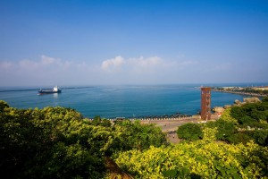 sunny view of sizhiwan coast taiwan