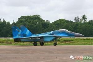 side view burma airforce fighter jet on the runway