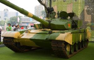 front view type 99 PLA battle tank