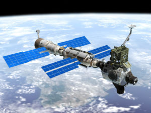 side view china's space station 'heavenly palace'