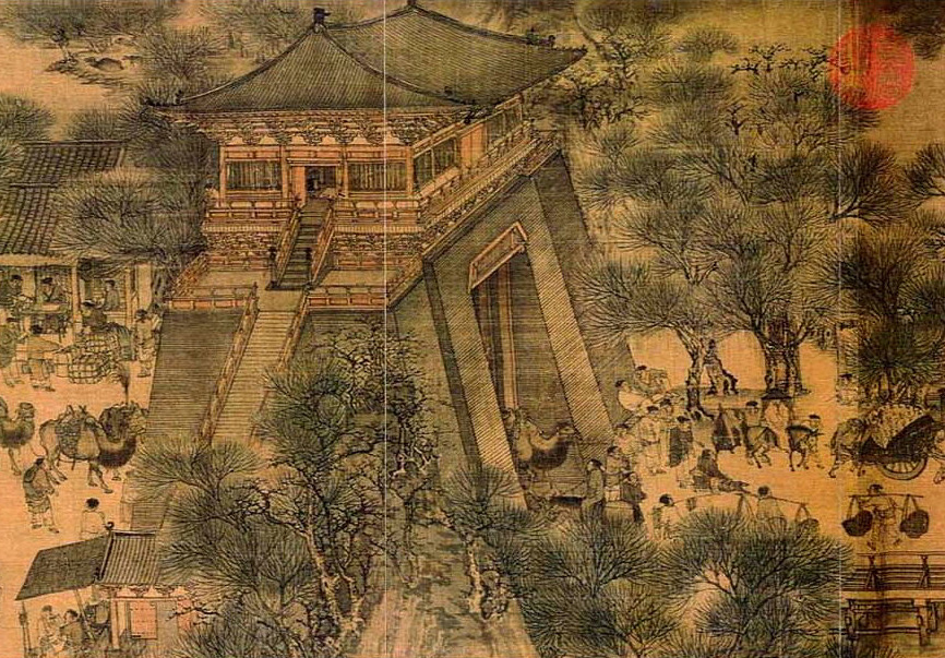 bianjing city gate painting of qingming jie