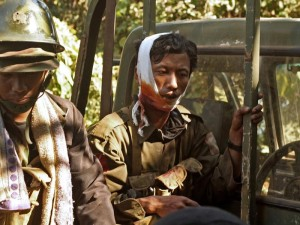 injured soldier in the myanmar conflict