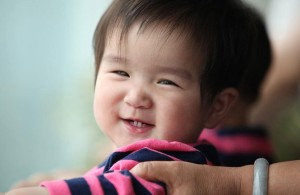 chinese baby smiling