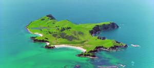 ariel view of slipper island