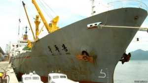 seized north koran cargo ship in dock