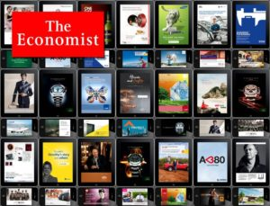 sample of ads from the economist
