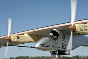 front view solar plane before flight from myanmar to china
