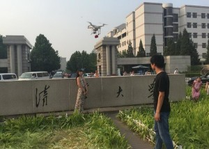 drone flying to deliver engagement ring