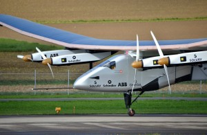 solar impulse 2 on the runway