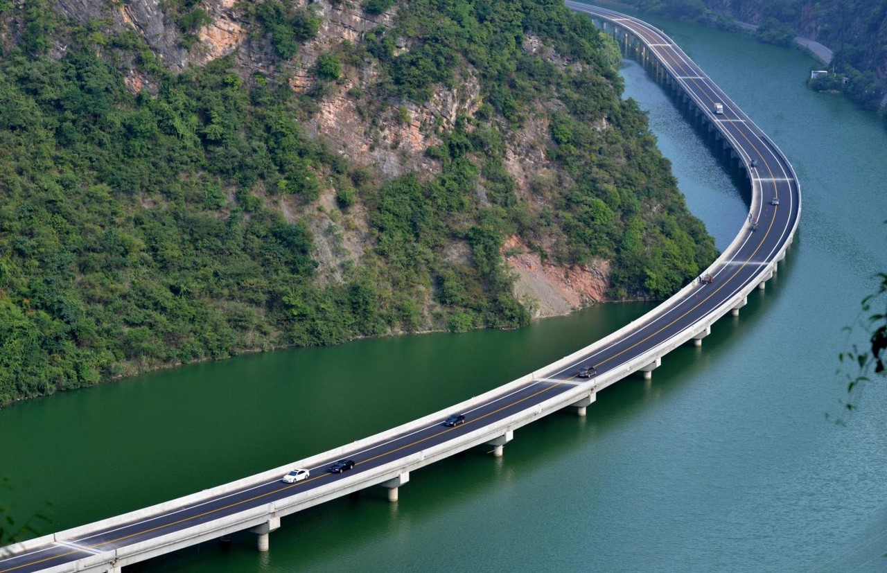 top view eco-friendly open water highway china