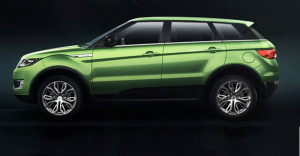 side view green landwind x7