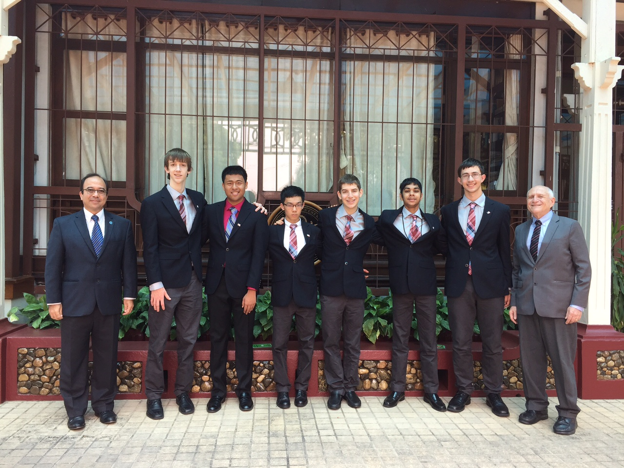 US maths olympiad team photo