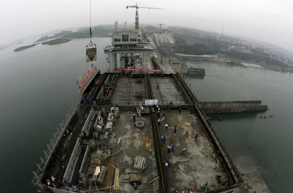 Above the Danjiangkou Dam in Hubei province