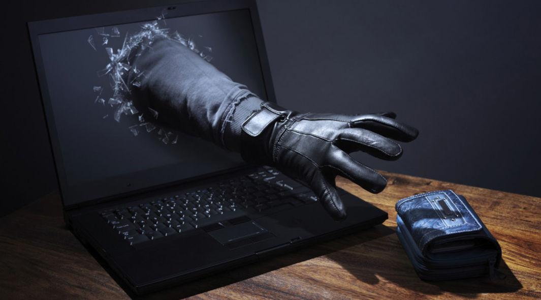 arm reaching through a screen to steal a purse