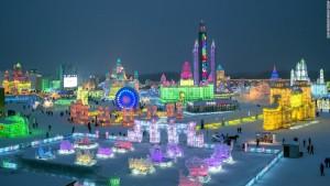 landscape of harbin ice festival