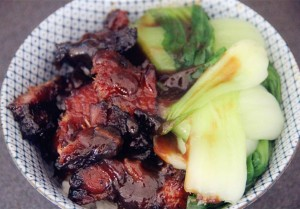 delicious bowl of char siu rice