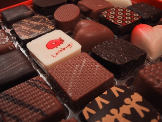 assortment of chocolates
