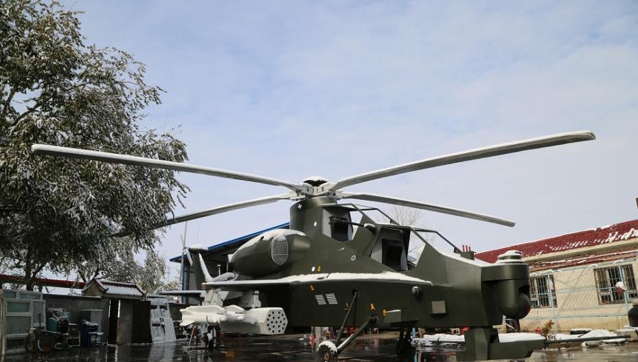 front and side view of a home-made helicopter in china