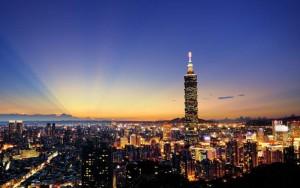 taipei skyline by night tcb