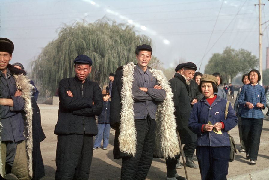 A group of Chinese people during the Cultural Revolution