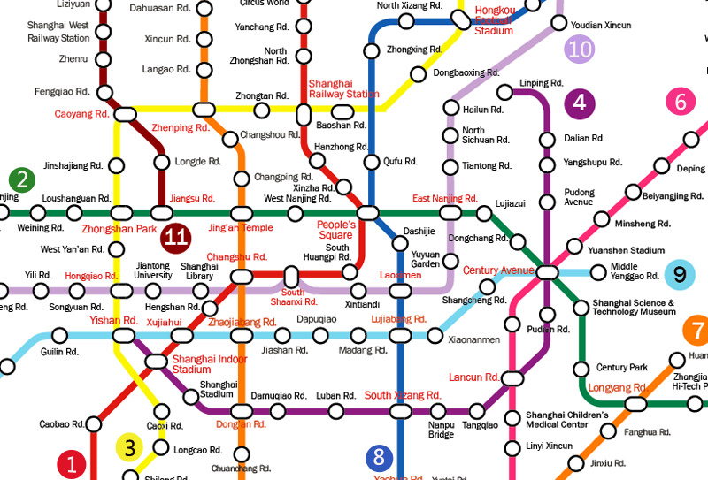Stations of the Shanghai Metro