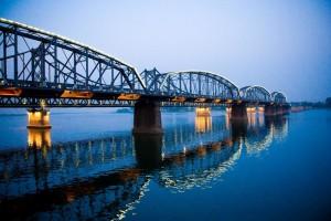 Bridge connecting China and North Korea