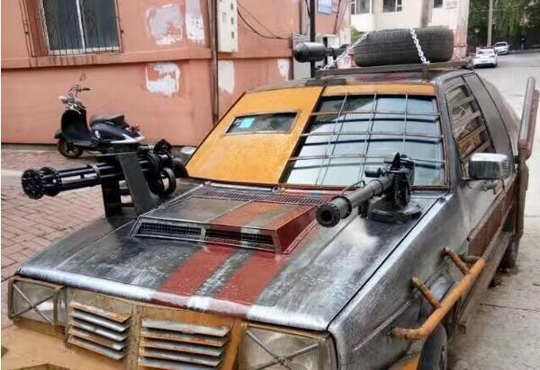 home-made armoured car