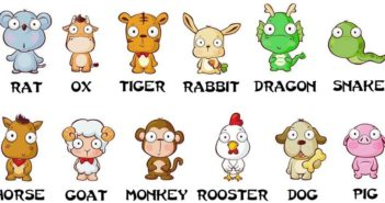 The 12 Chinese zodiac animals pictured