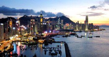 Beautiful view over Hong Kong island