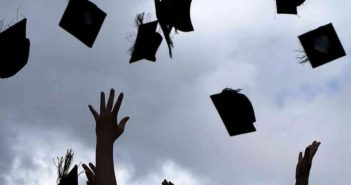 graduates throwing hats in china