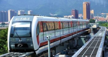 front view of maglev train in china