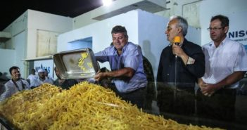 huge batch of chips cooked on greek island