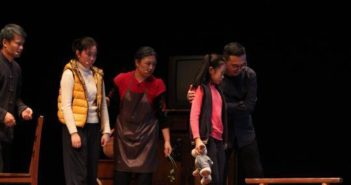 scene from a stage play in china