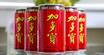 red cans of tea
