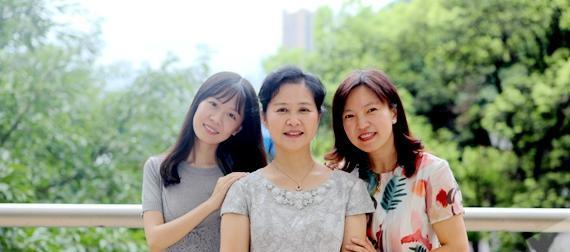 three women posing for a picture