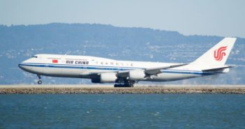 side view of air china plane