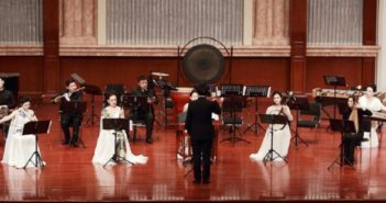 student orchestra performing in china