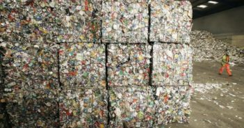 scrap cubes piled up